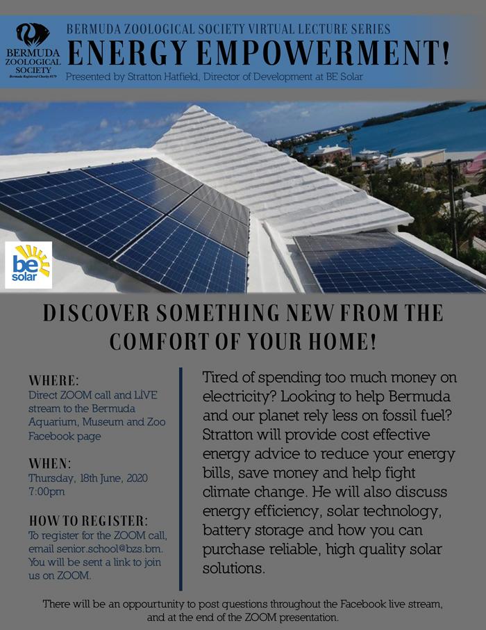 BeSolar Virtual Lecture Bermuda June 2020