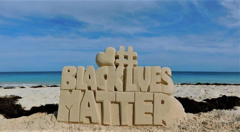 Black Lives Matter Sandcastle Bermuda June 2020