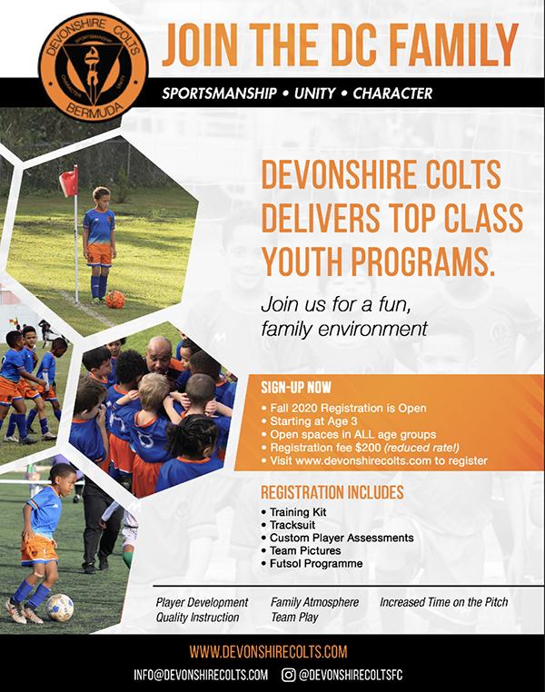 Devonshire Colts Youth Registration Bermuda June 2020