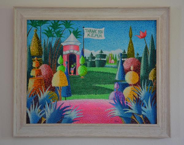 Elizabeth Mulderig Painting Bermuda June 2020