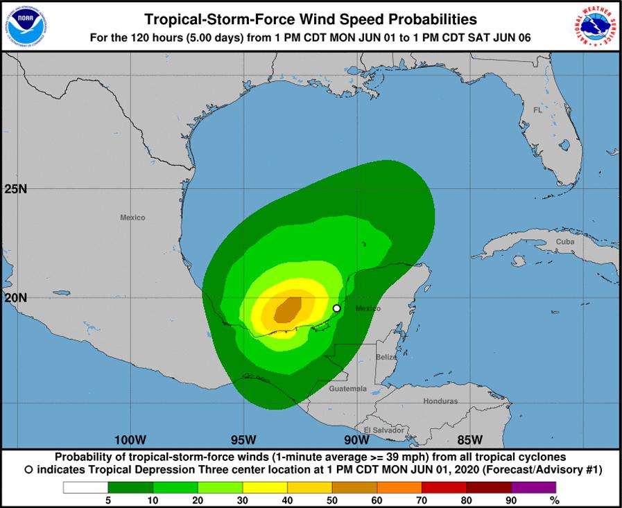 Hurricane Name Bermuda June 1 2020 NHC
