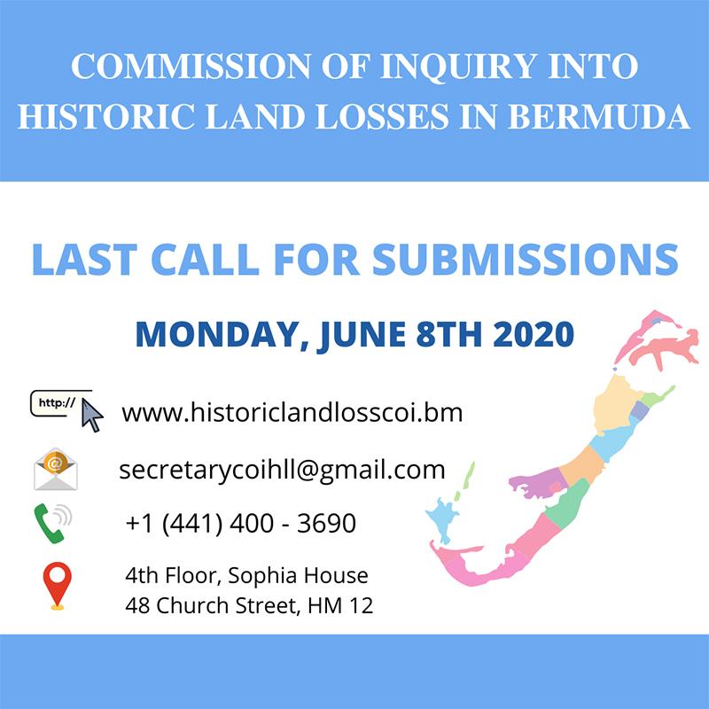 Land Grab Commission Bermuda June 2020