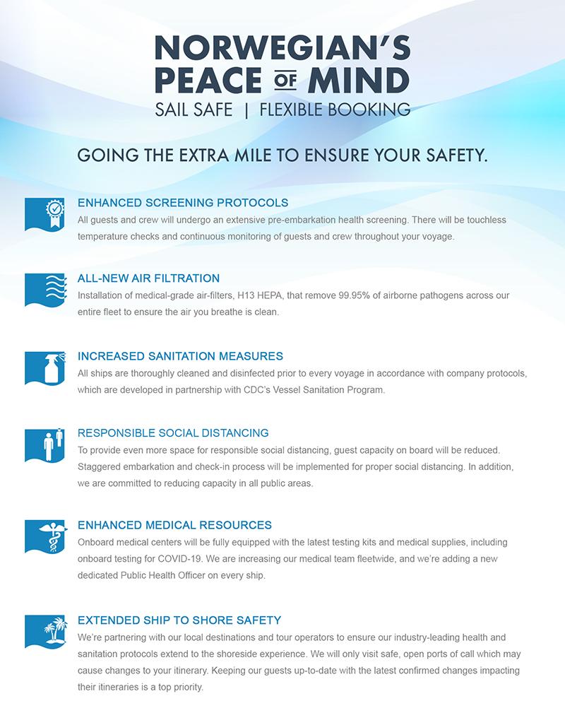 'Norwegian's Peace Of Mind' Policy Bermuda June 2020