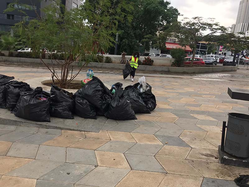 Open Your Heart Foundation Cleaning Event In Angola June 2020 (7)