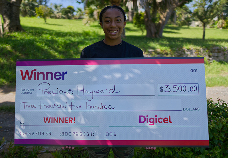 Precious Hayward Awarded Digicel Bursary Bermuda June 2020