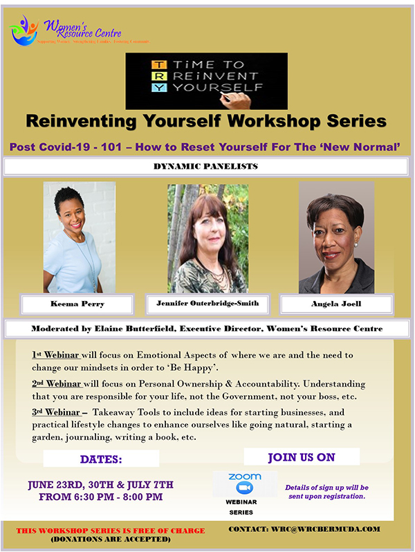 Reinventing Yourself Workshop WRC Bermuda June 2020