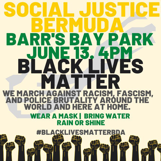 Social Justice Bermuda BLM March June 2020