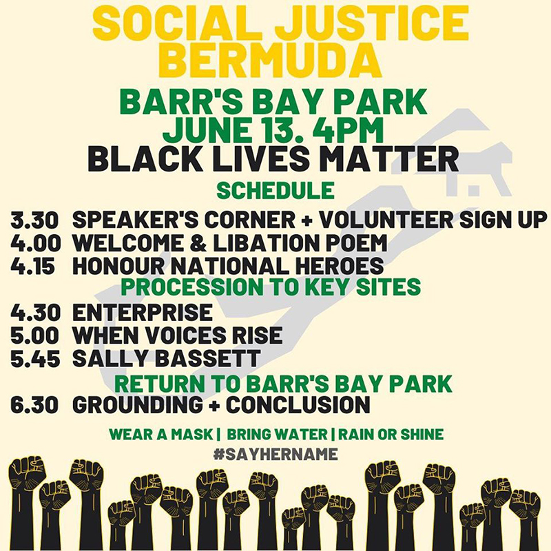 Social Justice Bermuda BLM March June 2020