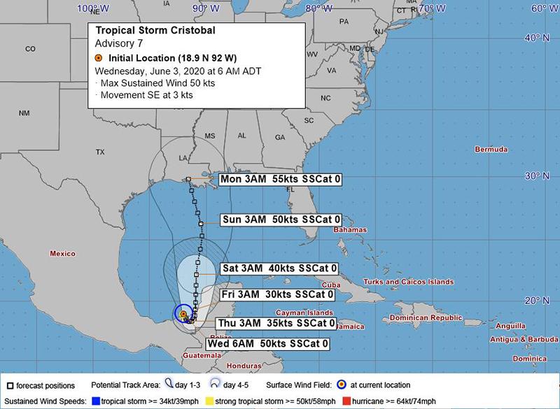 Tropical Storm Cristobal June 3 2020 BWS