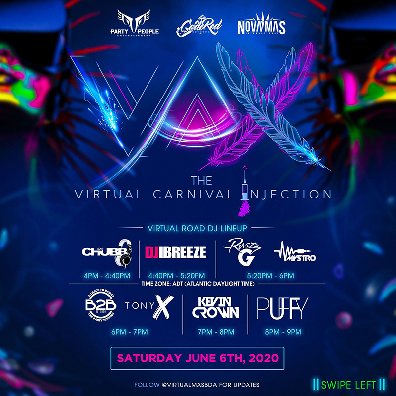 Virtual Carnival Injection Bermuda May June 2020