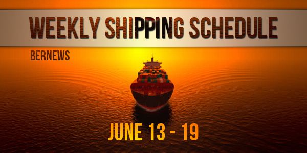 Weekly Shipping Schedule TC June 13 - 19 2020