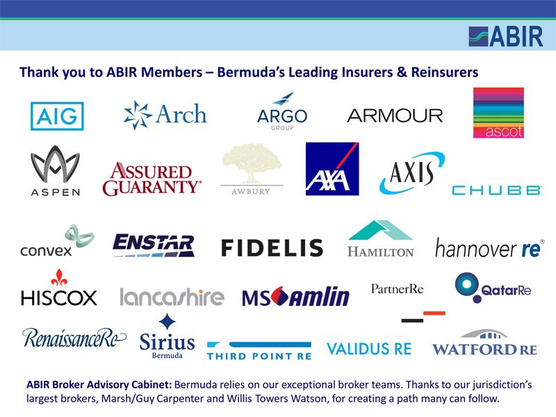 The Association of Bermuda Insurers and Reinsurers