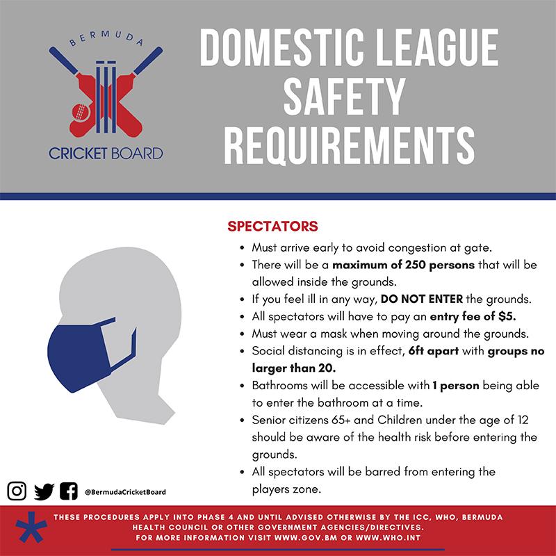 Domestic League Requirements - Spectators