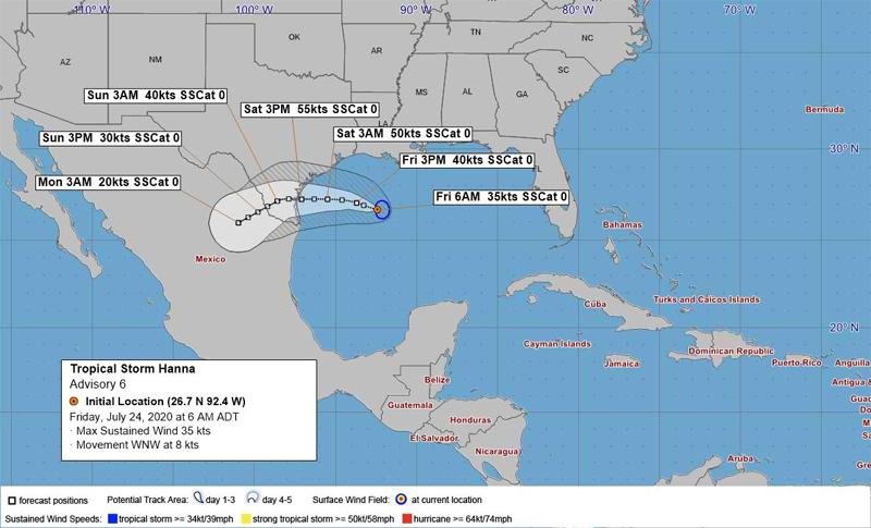 BWS Tropical Storm Hanna July 2020