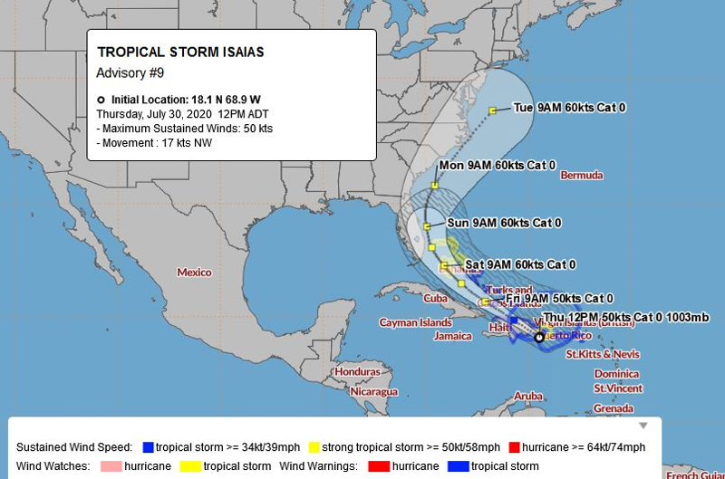 BWS Tropical Storm Isaias July 30 2020