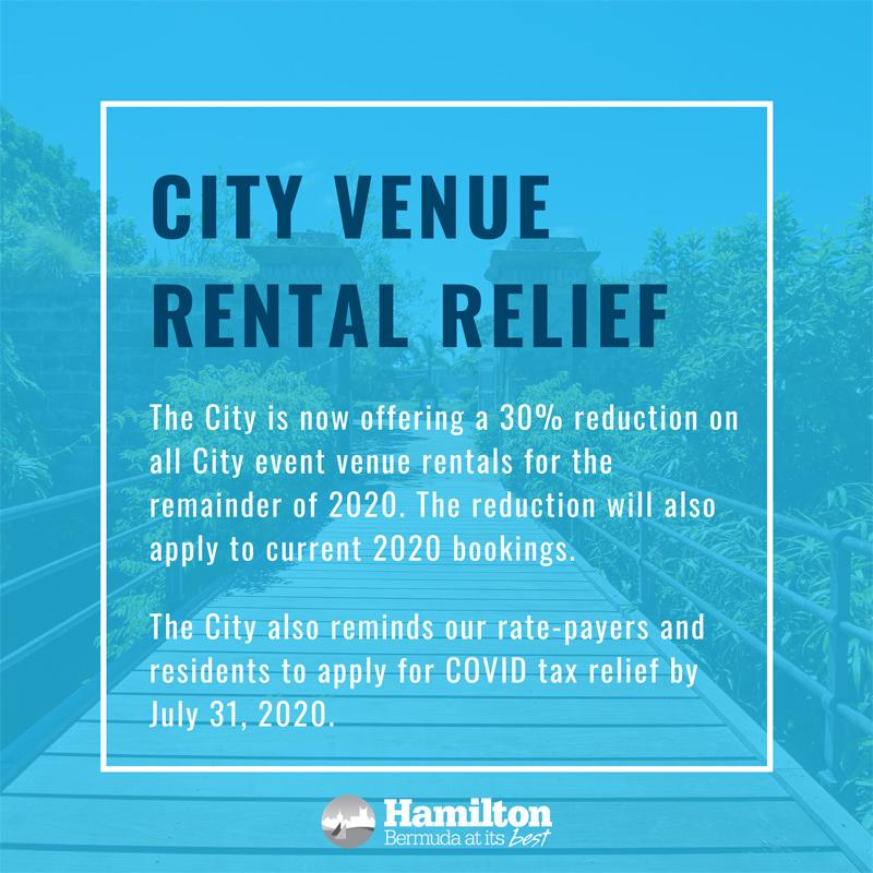 City Venue Rental Relief Bermuda July 2020