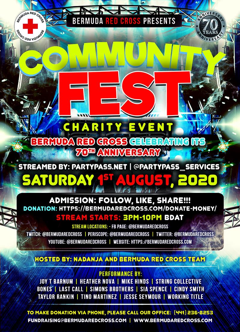 Community Fest Bermuda July 14 2020 Wording