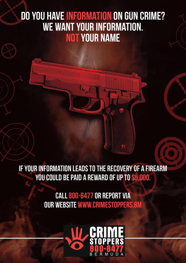 Crime Stoppers Gun Campaign Bermuda July 2020