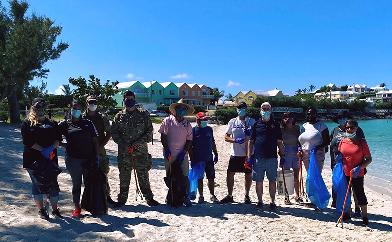 Government House Beach Cleanup Bermuda July 2020 (1)