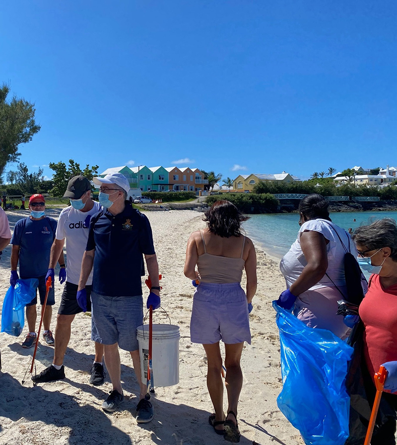 Government House Beach Cleanup Bermuda July 2020 (4)