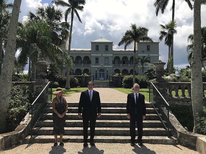 Governor Rankin, Consul General Rizzuto, Denise Rizzuto Bermuda July 202 (2)