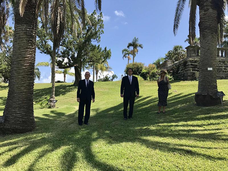 Governor Rankin, Consul General Rizzuto, Denise Rizzuto Bermuda July 202 (3)