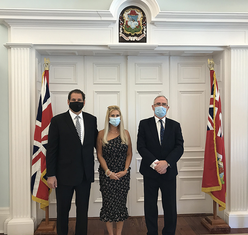 Governor Rankin, Consul General Rizzuto, Denise Rizzuto Bermuda July 2020 (1)