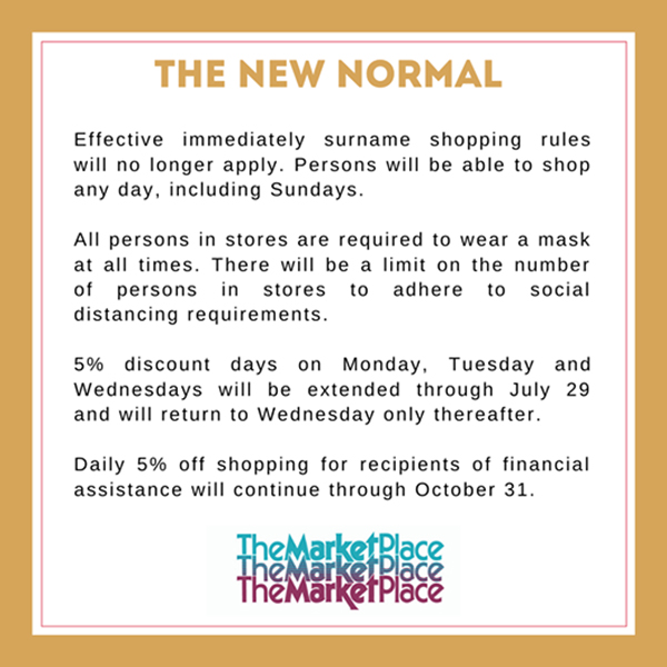 MarketPlace New Normal Announcement Bermuda July 2020