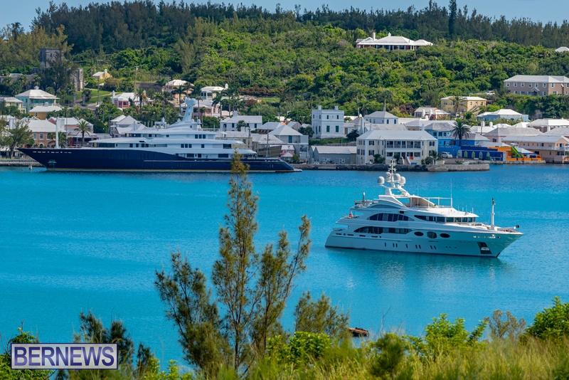 Mega yachts super yachts in Bermuda July 2020 boats (21)