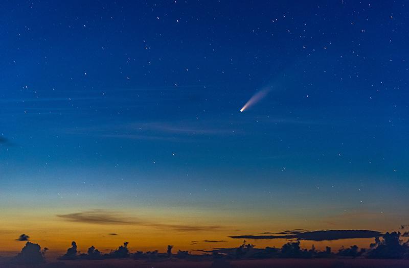 Neowise Comet Passes Bermuda July 2020