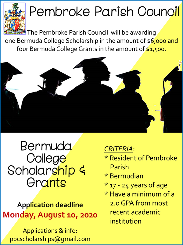 Pembroke Parish Council Scholarships Bermuda July 2020