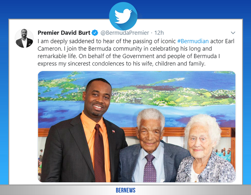 Premier David Burt tweet Bermuda July 4 2020