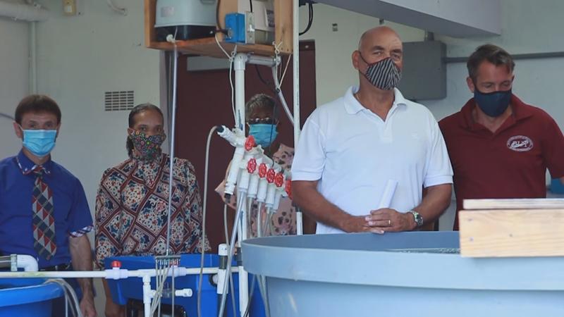 Sandys Middle School Aquafarm Bermuda July 2020