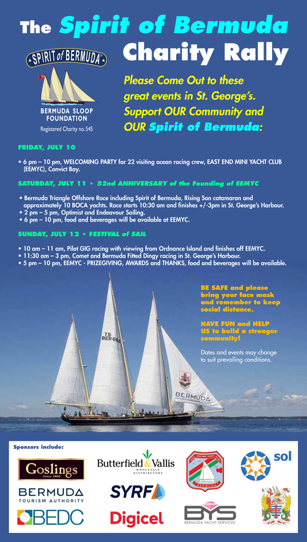 Spirit Of Bermuda Charity Rally July 2020