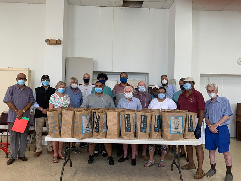 St. George's Rotary & Salvation Army Food Hamper Program Bermuda July 2020 (1)