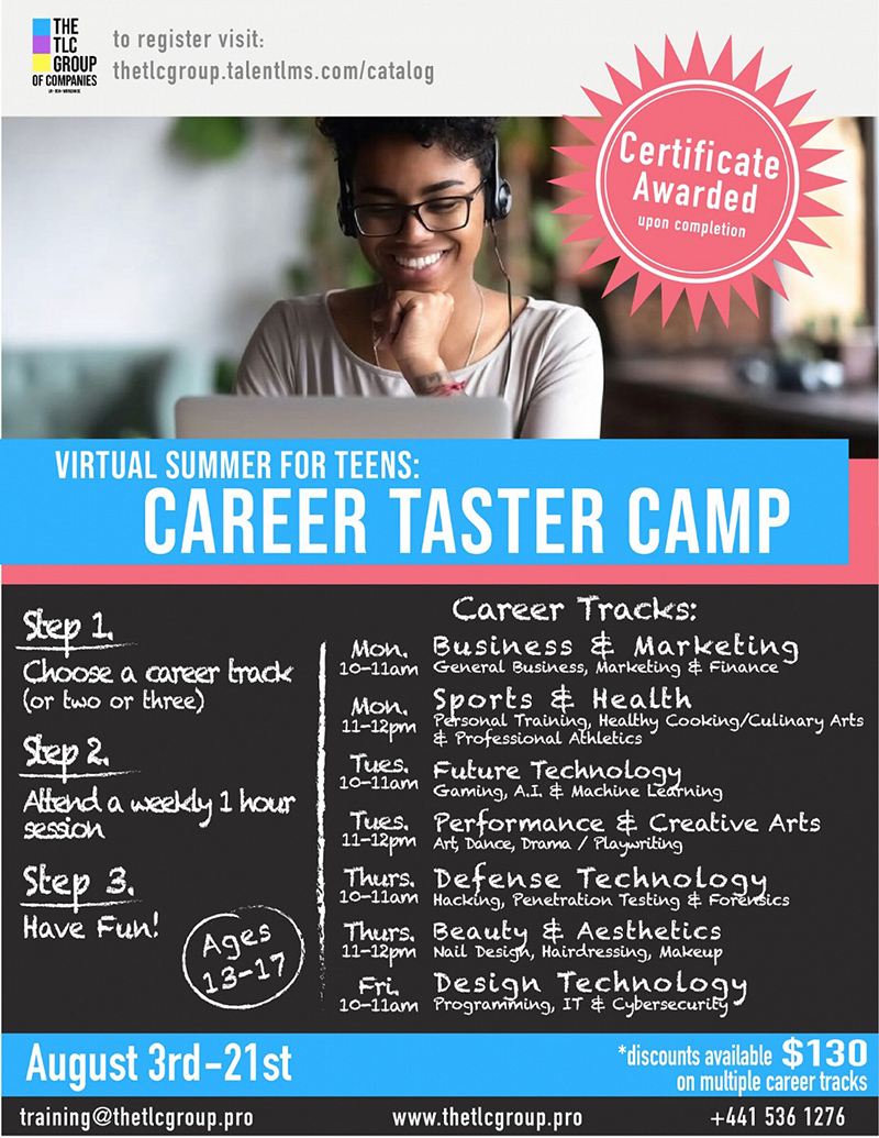 TLC Group To Offer Career Taster Virtual Camp Bermuda July 2020 (5)