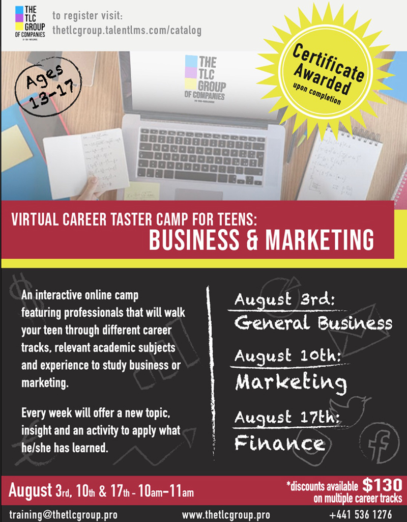TLC Group To Offer Career Taster Virtual Camp Bermuda July 2020 (7)