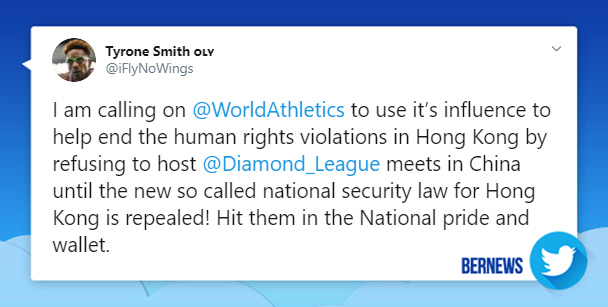 Tyrone Smith tweet July 2020