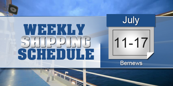 Weekly Shipping Schedule TC July 11 - 17 2020