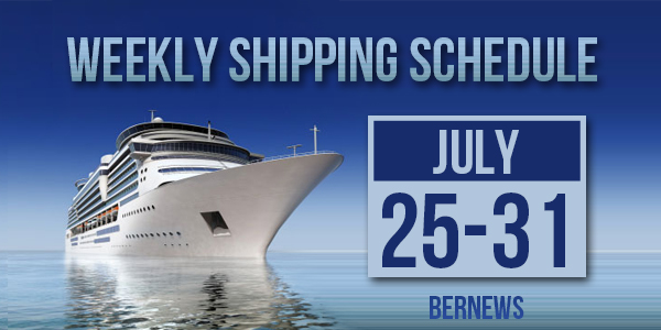Weekly Shipping Schedule TC July 25 - 31 2020