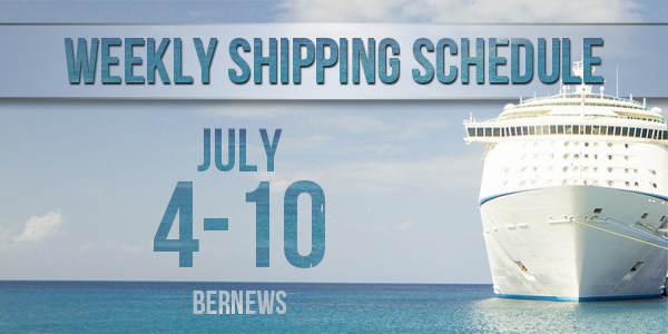 Weekly Shipping Schedule TC July 4 - 10 2020