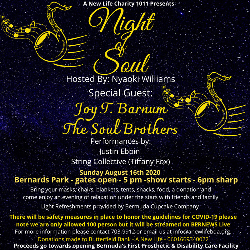 A New Life Night of Soul Bermuda August 2020