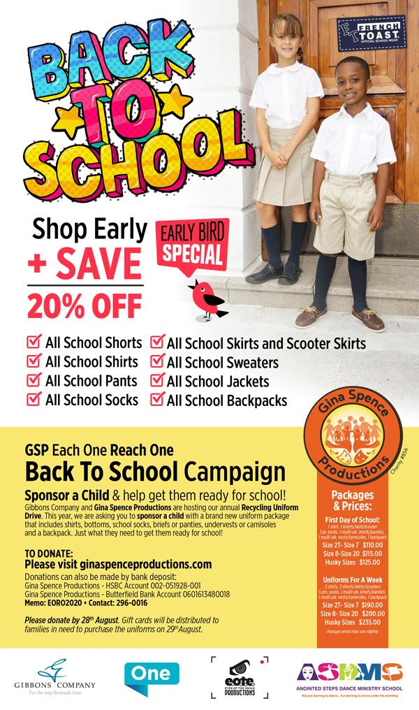 Back to School Bermuda August 2020