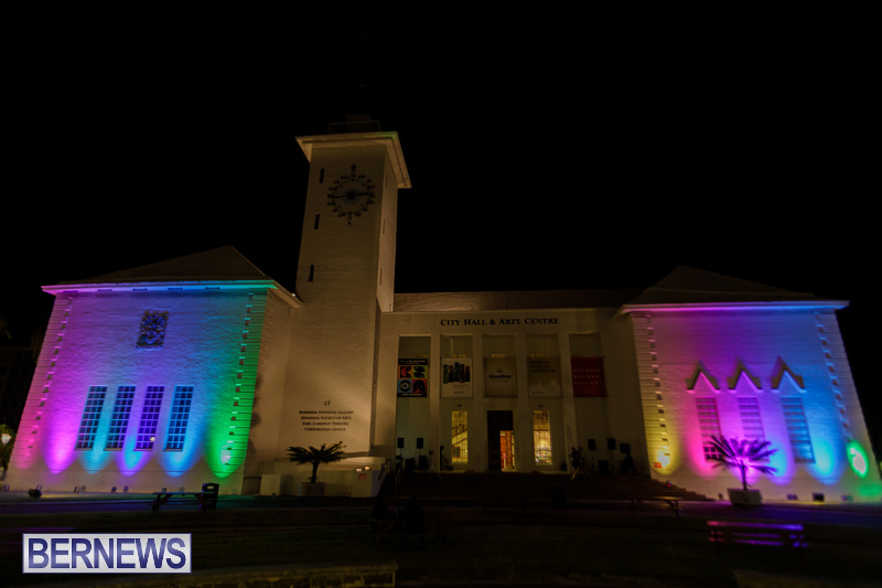 Bermuda City Hall Rainbow Colours August 2020 Pride Event (2)