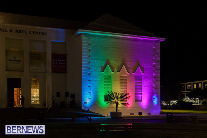 Bermuda City Hall Rainbow Colours August 2020 Pride Event (3)