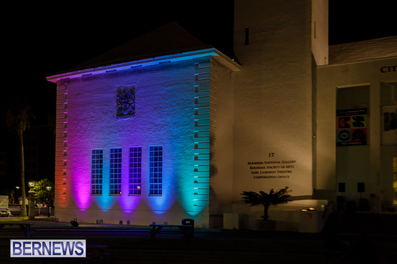 Bermuda City Hall Rainbow Colours August 2020 Pride Event (4)