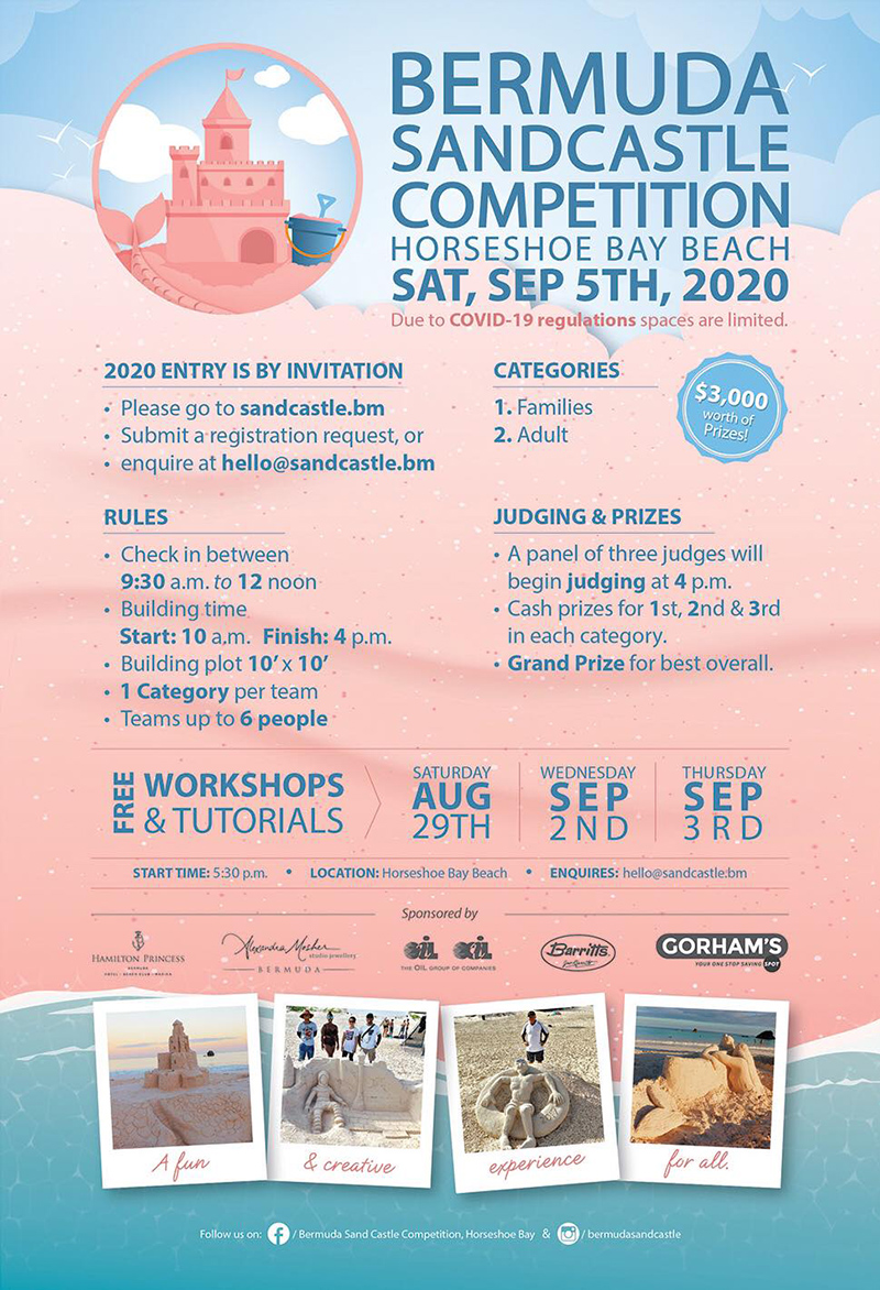 Bermuda Sandcastle Competition Aug 2020 1