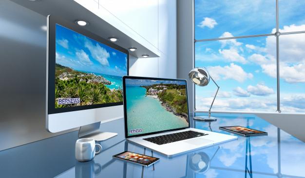 Bermuda on screen laptop generic werqrqer