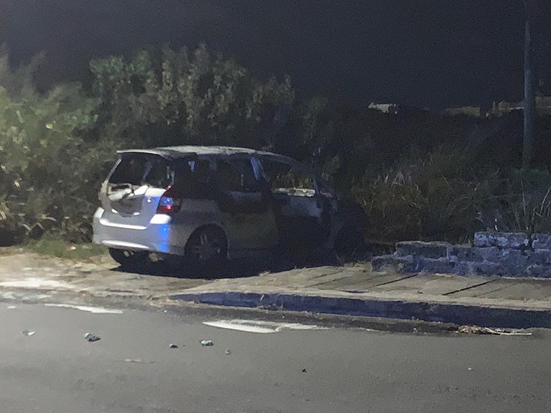 Car Fire Bermuda Aug 7 2020 (2)