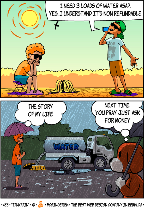 McGinger Comic Tankrain Bermuda Aug 2020